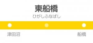東船橋駅の駅名標