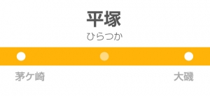平塚駅の駅名標