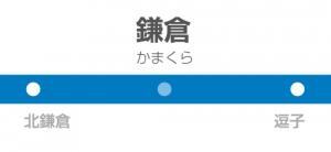 鎌倉駅の駅名標