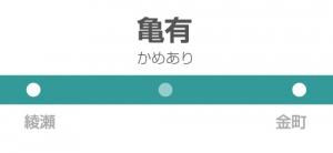 亀有駅の駅名標