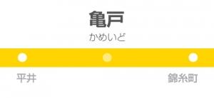 亀戸駅の駅名標