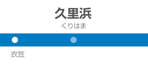 久里浜駅の駅名標