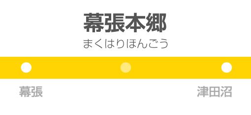 幕張本郷駅の駅名標