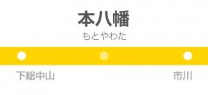 本八幡駅の駅名標