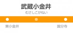 武蔵小金井駅の駅名標