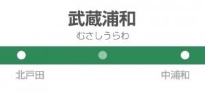 武蔵浦和駅の駅名標