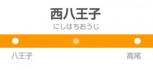 西八王子駅の駅名標