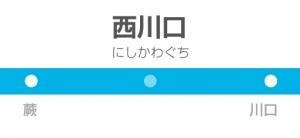 西川口駅の駅名標