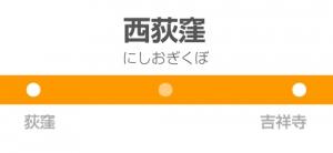 西荻窪駅の駅名標