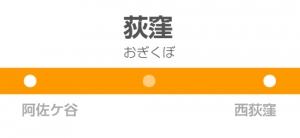 荻窪駅の駅名標