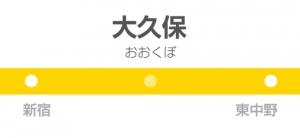 大久保駅の駅名標