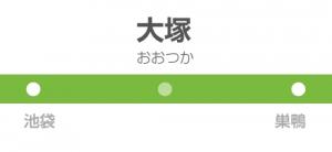 大塚駅の駅名標