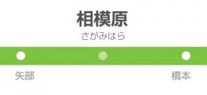 相模原駅の駅名標