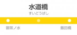 水道橋駅の駅名標
