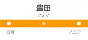 豊田駅の駅名標