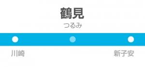 鶴見駅の駅名標