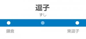 逗子駅の駅名標