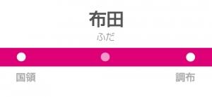 布田駅の駅名標