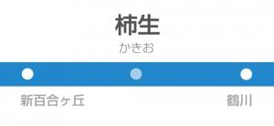 柿生駅の駅名標