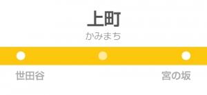 上町駅の駅名標