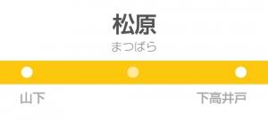 松原駅の駅名標