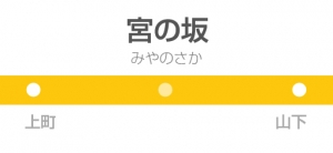 宮の坂駅の駅名標