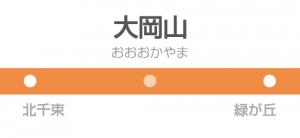 大岡山駅の駅名標