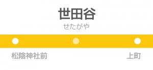 世田谷駅の駅名標