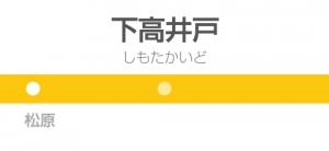 下高井戸駅の駅名標