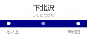 世田谷代田駅の駅名標