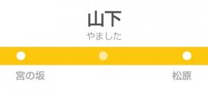 山下駅の駅名標