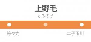 上野毛駅の駅名標