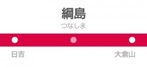 綱島駅の駅名標