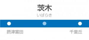 茨木駅の駅名標