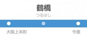 鶴橋駅の駅名標