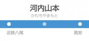 河内山本駅の駅名標