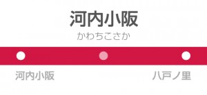 河内小阪駅の駅名標