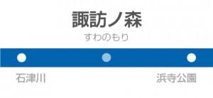 諏訪ノ森駅の駅名標