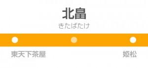 北畠駅の駅名標