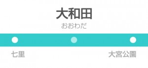 大和田駅の駅名標(東武)