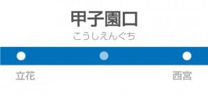 甲子園口駅の駅名標