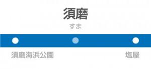 須磨駅の駅名標