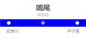 鳴尾駅の駅名標