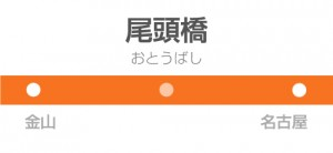 尾頭橋駅の駅名標
