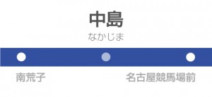 中島駅の駅名標