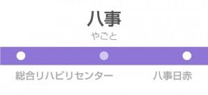 八事駅の駅名標
