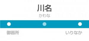 川名駅の駅名標