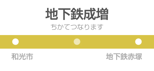 地下鉄成増駅の駅名標